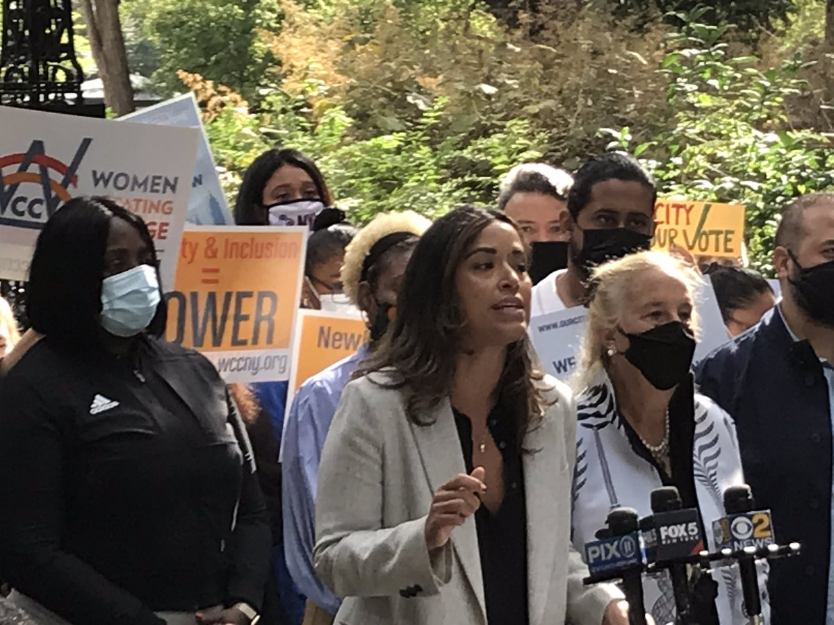 """""""Our government and our city should be shaped by New Yorkers. Now is the time for #OurCityOurVote!""""@CarlinaRivera"""