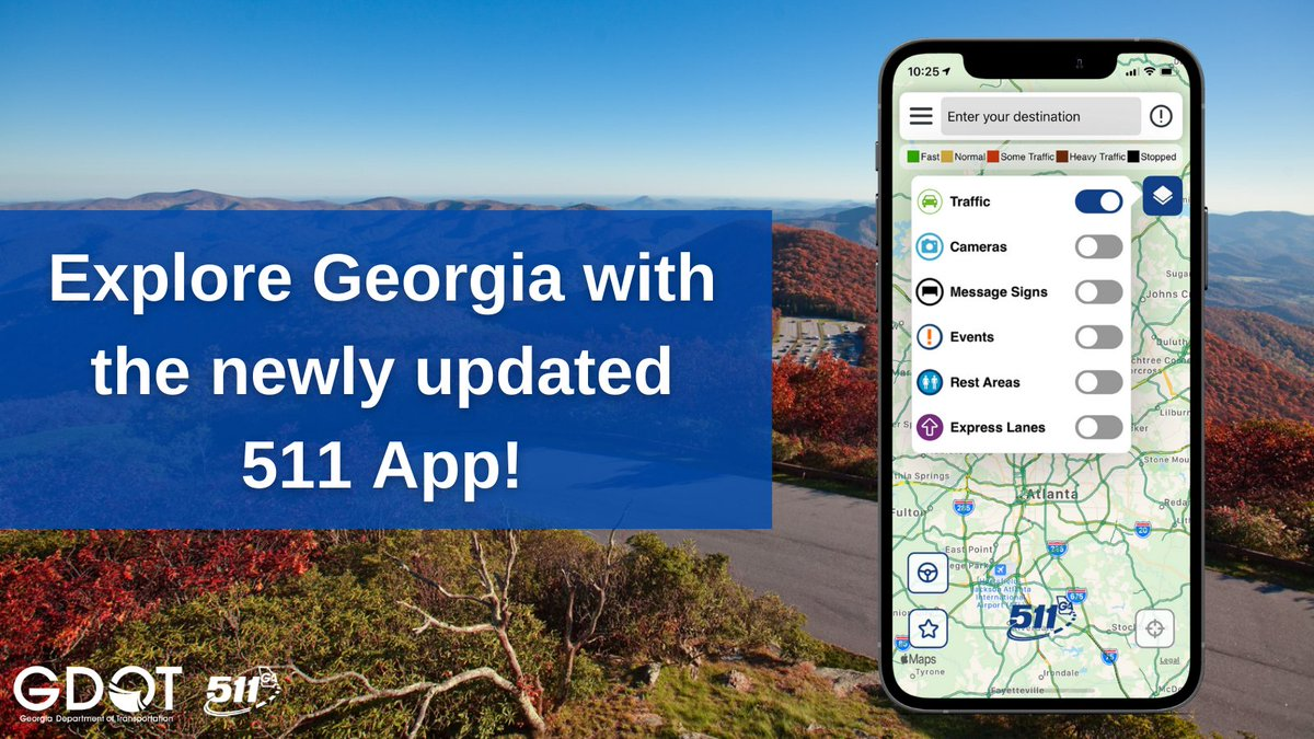 Download the newly updated 511GA app for real-time traffic info.  https://t.co/nRbLOXdVjf