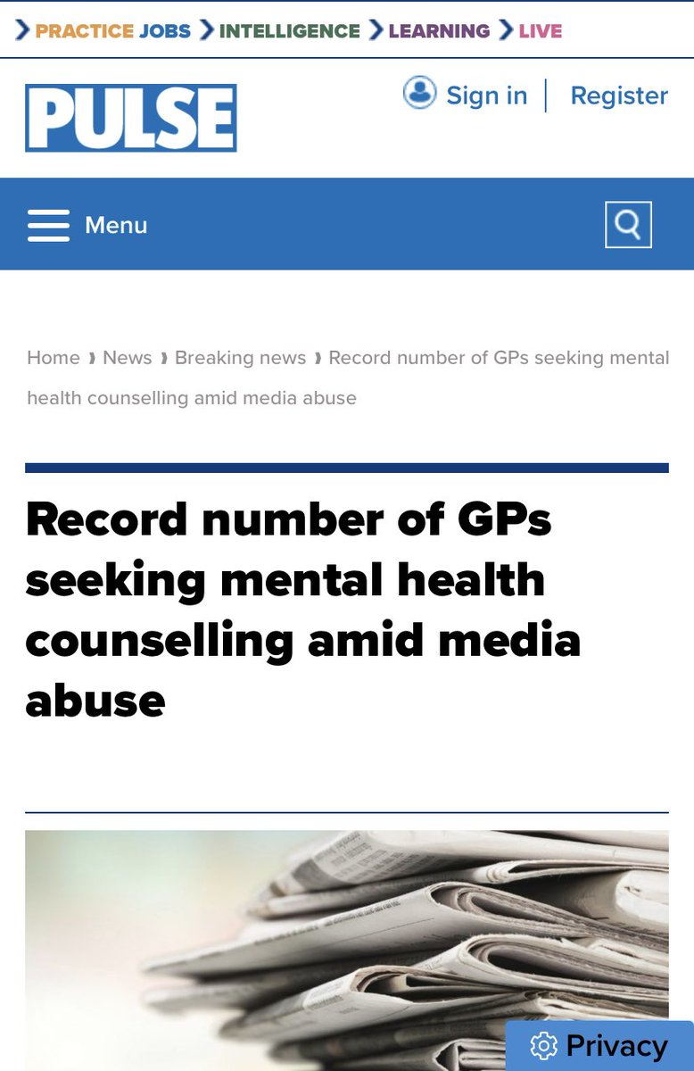 We have a recruitment and retention crisis in general practice. GPs have one the highest rates of burnout and 4 x the suicide risk. 3 GPs are leaving the profession every single day. @DailyMailUK do you really think your near constant GP bashing will make this worse or better?