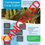 Sad news fishing fans. 😥  We've had to cancel our Campaspe Carp Catch this year due to the changing COVID-19 situation.  A huge thanks to all who registered.   If we all get vaxxed, we can see you on the banks of the river next year.