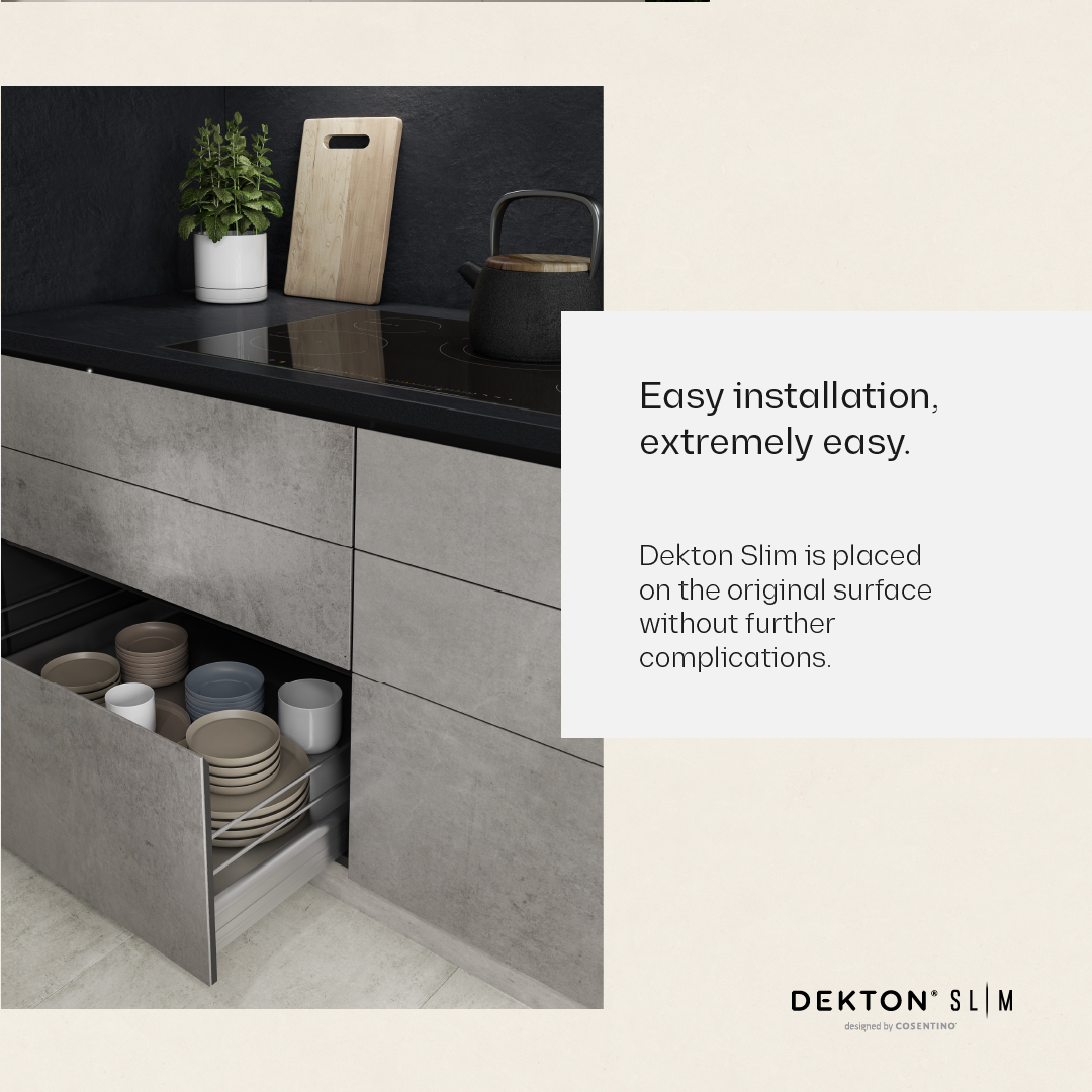 The design possibilities are endless with Dekton Slim, which makes it easier and more affordable than ever to clad furniture, walls and more bit.ly/CosentinoDekto…