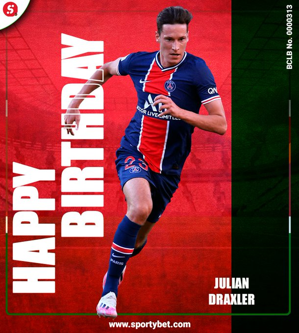 Happy Birthday2  8  th birthday Julian Draxler!