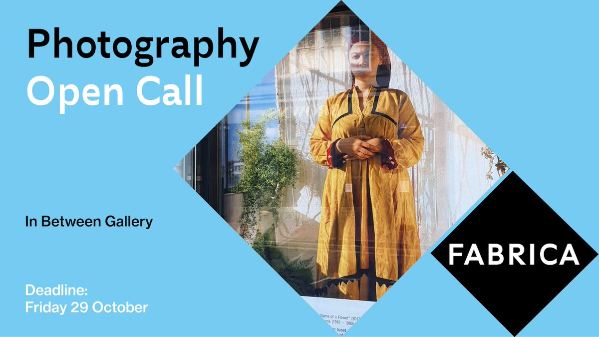 In Between Gallery - Open Call! @FabricaGallery in partnership with @SpectrumLab @PhotoFringe and @loupe (us!) are looking for work by emerging photographers! Free submission - all info here: fabrica.org.uk/inbetween-open… Deadline: 29 / 10 / 2021