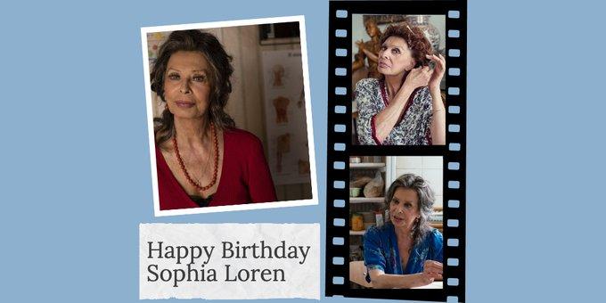 Happy Birthday Sophia Loren. What