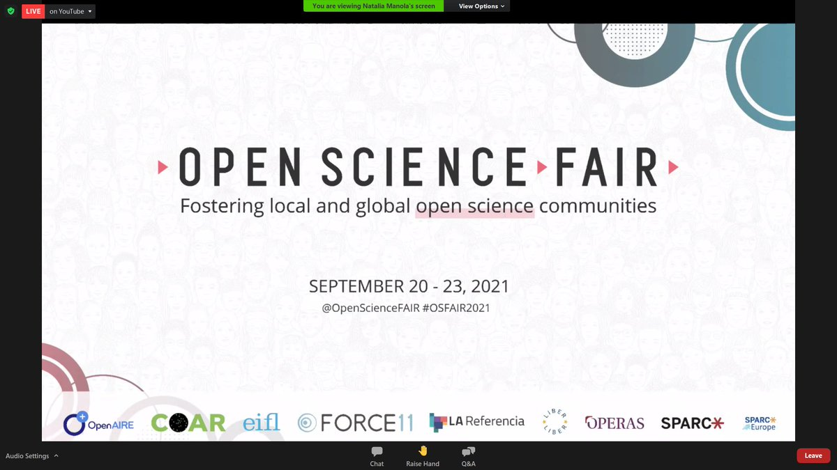 #OSFAIR2021 will begin in a few minutes! Are you ready?  #OpenScience #infrastrucuture #Interoperability #ScholarlyCommunication #EOSC #ResearchData #ResearchCommunities #CitizenScicence
