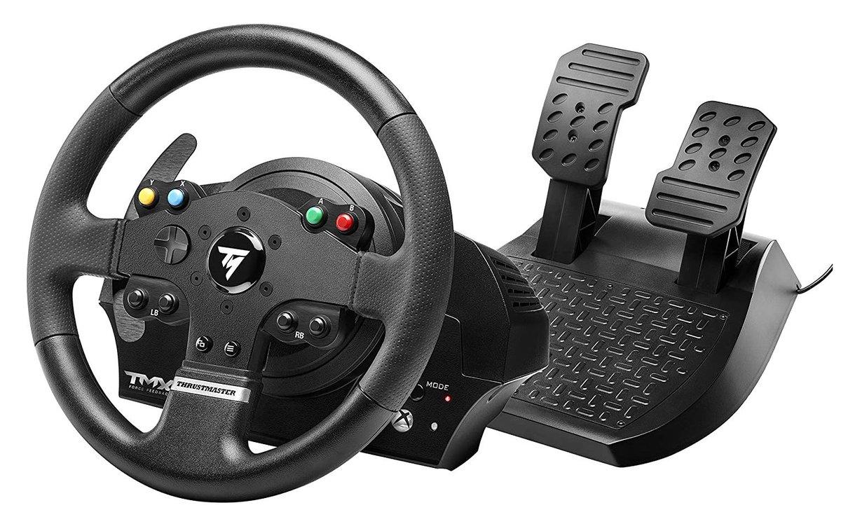 THRUSTMASTER TMX Force Feedback Racing Wheel (X1/X/PC) $129.99 via Amazon (Prime Eligible).