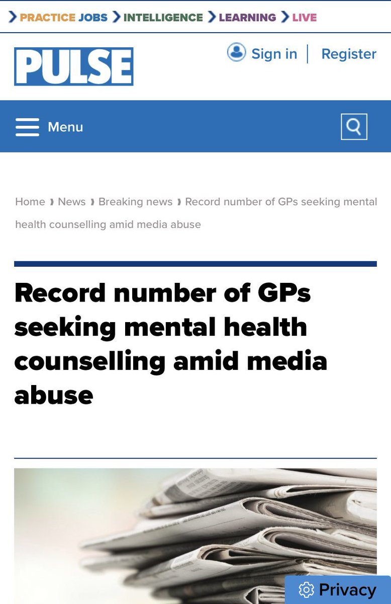 This is an absolutely travesty and the Daily Mail and others have a lot to answer for. We're right behind all the GPs and practice staff across the UK who need our support more than ever. Please RT if you're behind them too. #GotYourBacksGPs