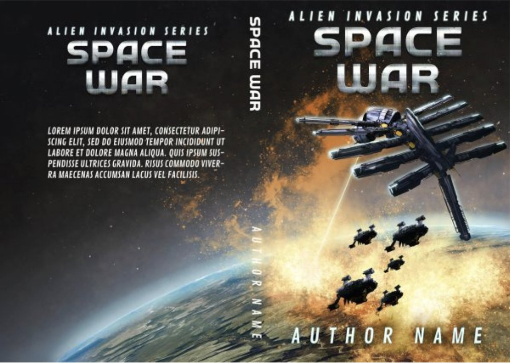 Premade #bookcovers with spaceships! Photomanipulated and hand-drawn pattyjansen.com/covers/product…