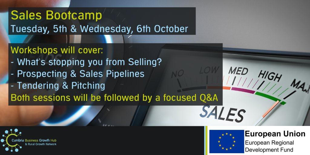 test Twitter Media - Cumbria Business Growth Hub with @JenJBConsulting bring you the Sales Bootcamp.  If you want to boost your sales then this 2-session workshop is for you! Participants can share stories, ask questions and get to the bottom of any sales issues they may have: https://t.co/eYOCNwGzli https://t.co/LH6kSNFYkJ