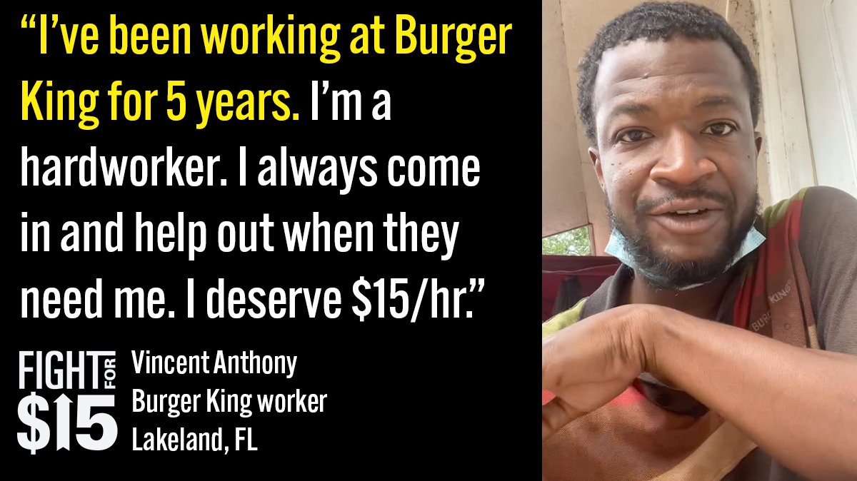 Working in fast food isn't easy, if it was the bosses would do it. They profit, we need a living wage.  #Fightfor15