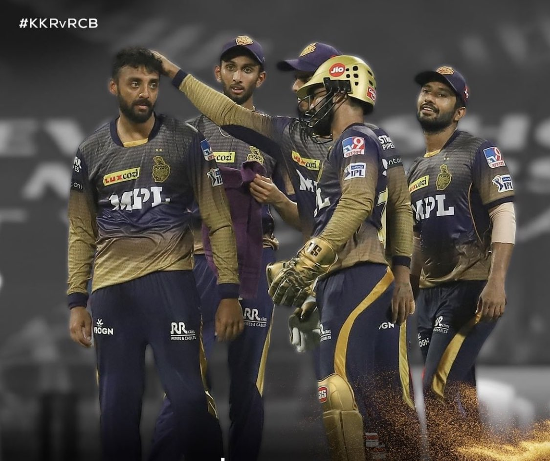 Top game for us @KKRiders tonight. Big man @Russell12A 💥 A bowler 3 for 9 including big wicket of AB and @chakaravarthy29 3 wickets another top spell set the game for us.. superb batting by @RealShubmanGill and #Venkyiyer 💪💪⬆️⬆️ https://t.co/v4oX2BzRVo