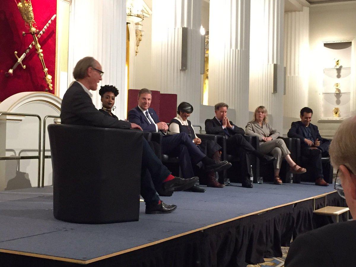 A fascinating #IRL event tonight at Mansion House with excellent input from @WillGompertzBBC @BarbicanCentre @kullyLeeds2023 @tarekiskander1 @battersea_arts @culturelpool @cebr_uk @genesis_fndn @ayannawj @citylordmayor on Culture and the New Economy #CulturalConversations
