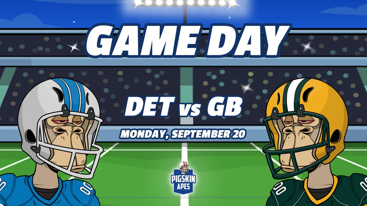 GameDay contest time! 🏈🏈 We're giving away 1 free Pigskin Ape mint to the person that guesses closest to the final score of the DET/GB game tonight. To enter simply leave your guess at the final score in the comments below! Winner announced directly after tonight's game!