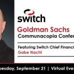 Image for the Tweet beginning: Switch Chief Financial Officer, Gabe