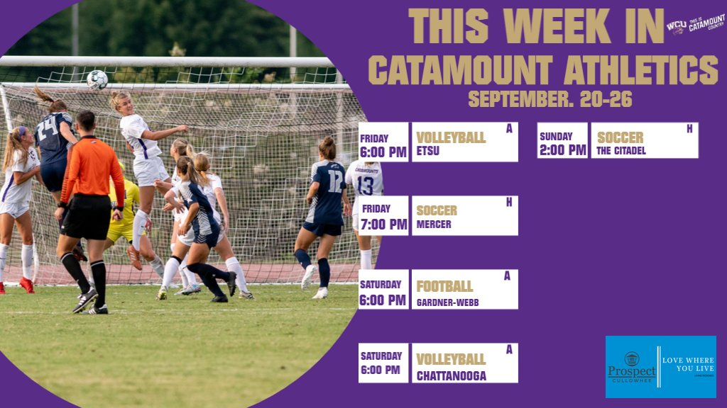 This week in Catamount Athletics