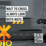 Image for the Tweet beginning: It's #RailSafetyWeek! Did you know