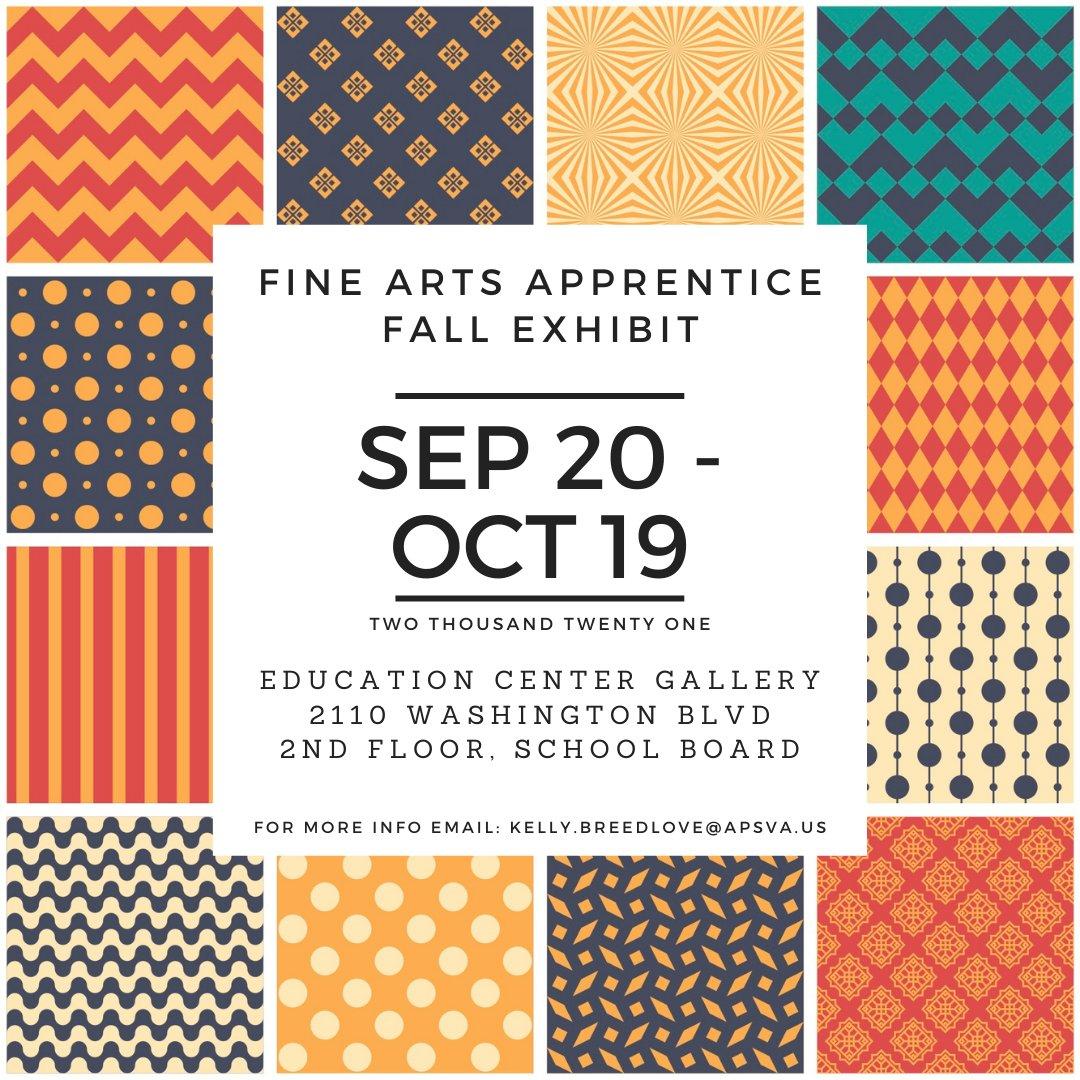 APS Exposición de otoño de aprendices de bellas artes: con estudiantes de HB Woodlawn, Wakefield, Washington-Liberty y YorktownAPSArtes '> @APSLetrasAPSisAwesome '>APSisAwesome? src = hash '> #APSisAwesome https://t.co/KN1PkAIyHY