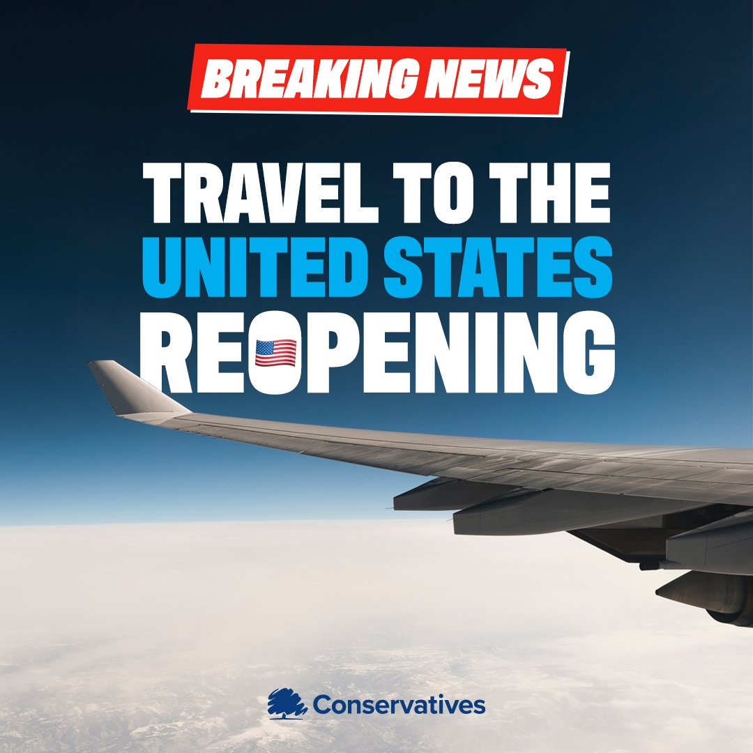 𝐁𝐑𝐄𝐀𝐊𝐈𝐍𝐆 𝐍𝐄𝐖𝐒: Transatlantic travel is resuming from November. Boosting British business, trade and reuniting families and friends 🇬🇧🇺🇸