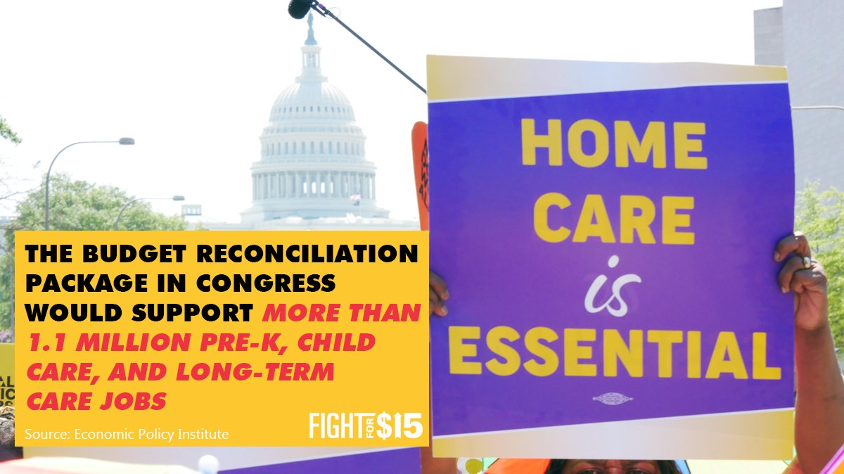 Supporting our essential care workers means supporting the #BuildBackBetter budget reconciliation package.   #CareCantWait bit.ly/2XngklZ
