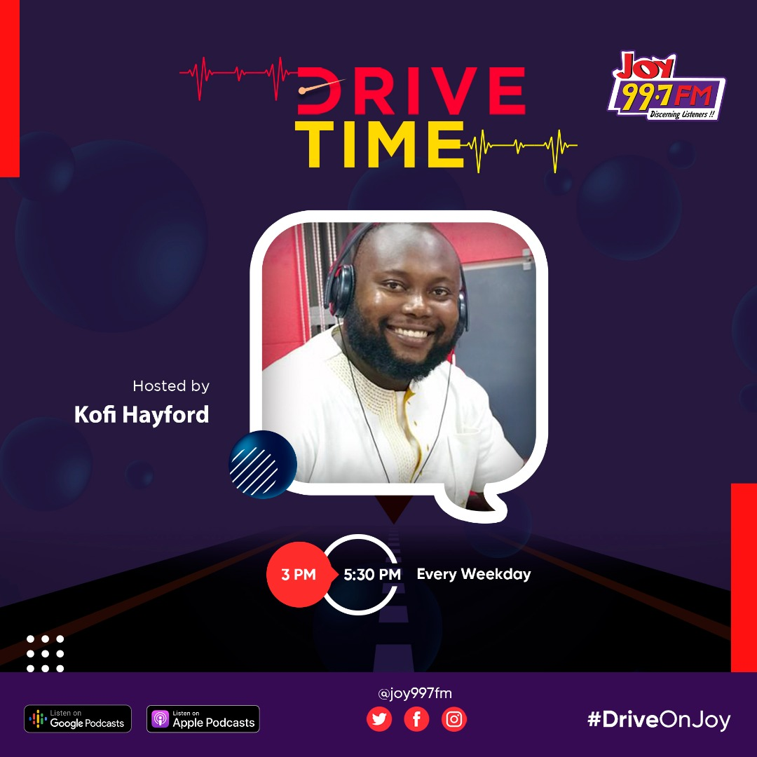 Good afternoon and welcome to DriveTime on Joy with Kofi Hayford. #DriveOnJoy