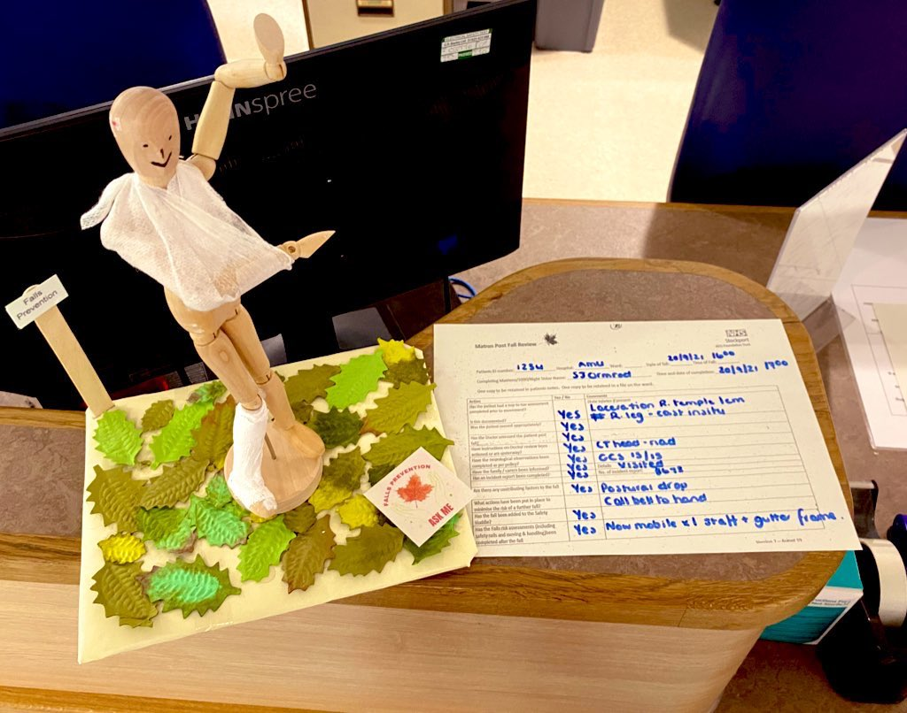 Fred has had his post falls matron review completed in a timely manner to ensure there were no unidentified contributory factors #safecare #learningfromincidents #fallsawarenessweek