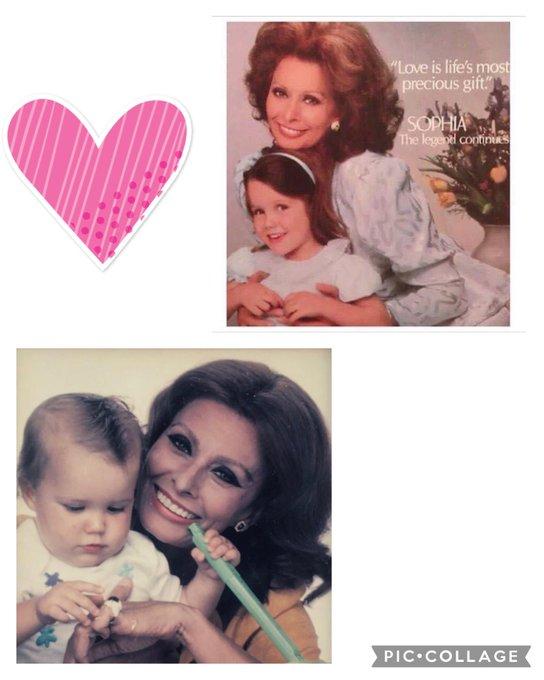 Happy birthday, Sophia Loren!! Two beautiful Sophi s together