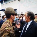 Image for the Tweet beginning: Oggi con il generale #Figliuolo
