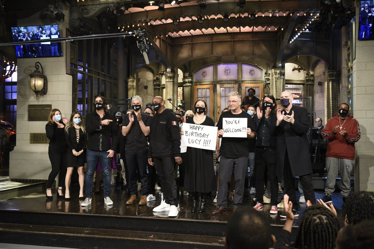 Congratulations to Lorne Michaels, Steve Higgins, Colin Jost, Alec Baldwin, Maya Rudolph, Dave Chappelle, the Foo Fighters and all of the wonderful cast, writers and crew of @NBCSNL for the Emmy win last night. It'll be my honor, always, to have played a small role. :^D