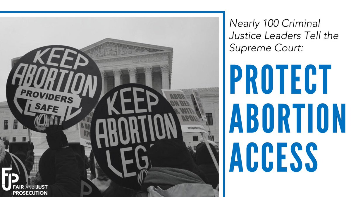 """As a prosecutor and RN, I joined with criminal justice leaders across the U.S. to urge #SCOTUS to respect 50 years of judicial precedent & protect abortion access. If Roe is overturned, """"the safety and well-being of entire communities will suffer."""" https://t.co/Qo4Q3Uoo9Z"""