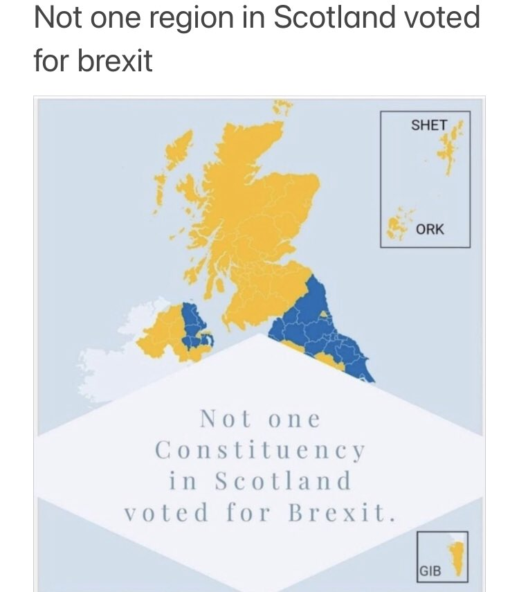 As the fallout of Brexit continues to reek havoc it's worth remembering:  NOT ONE constituency in Scotland voted for Brexit.   Enough is Enough! #Indyref2 #ScotlandsChoice