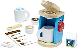 Melissa & Doug 11-Piece Brew and Serve Wooden Coffee Maker Set $15.19  at