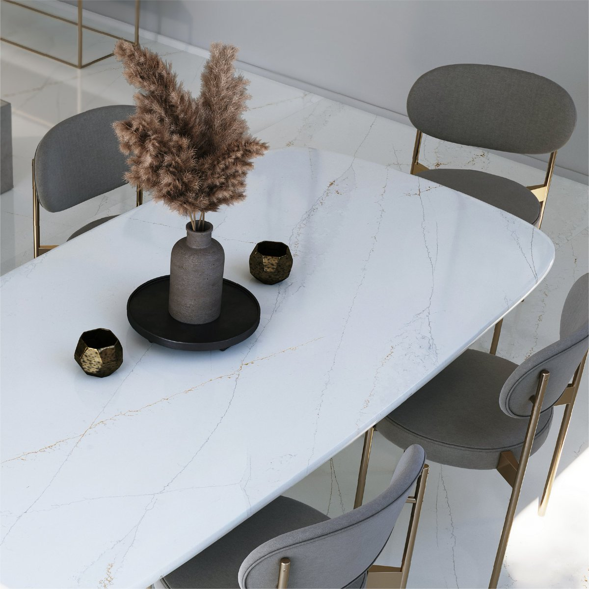 A table built sustainably and built for your life, Silestone Ethereal Glow adds serenity to every space it inhabits.   Learn more about the Ethereal Glow, made using HybriQ+ technology by visiting bit.ly/HybriqTechnolo…