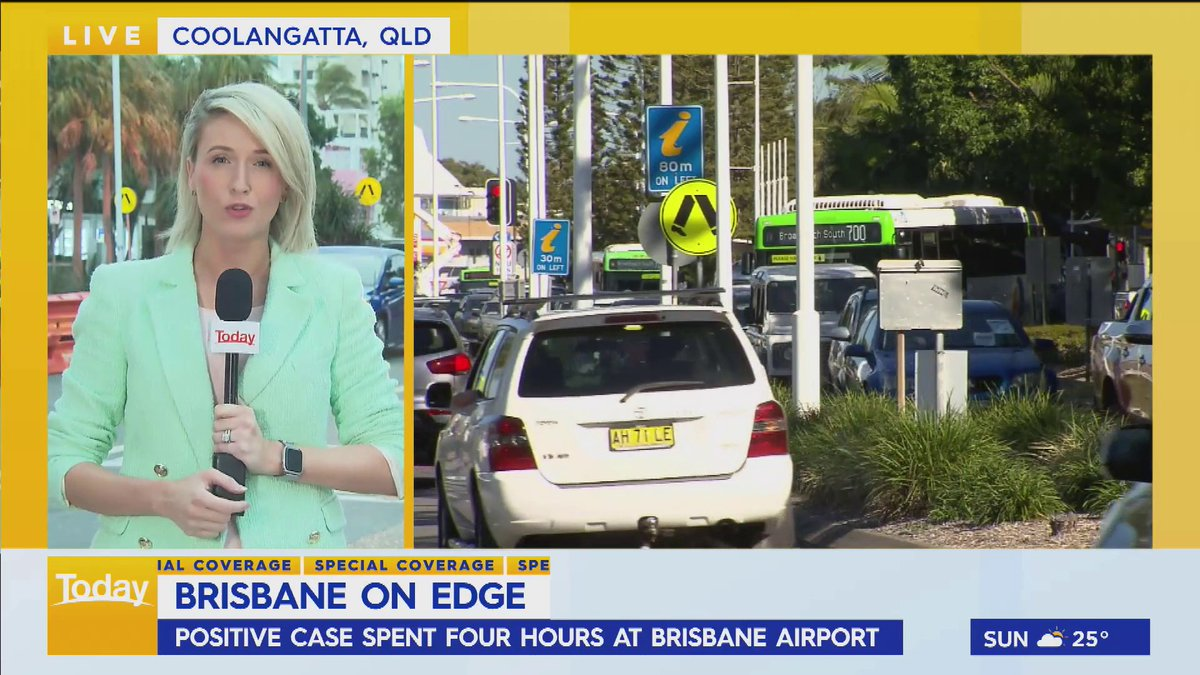 Queensland's border bubble with northern NSW is under threat again after a positive case was infectious in the community. #9Today