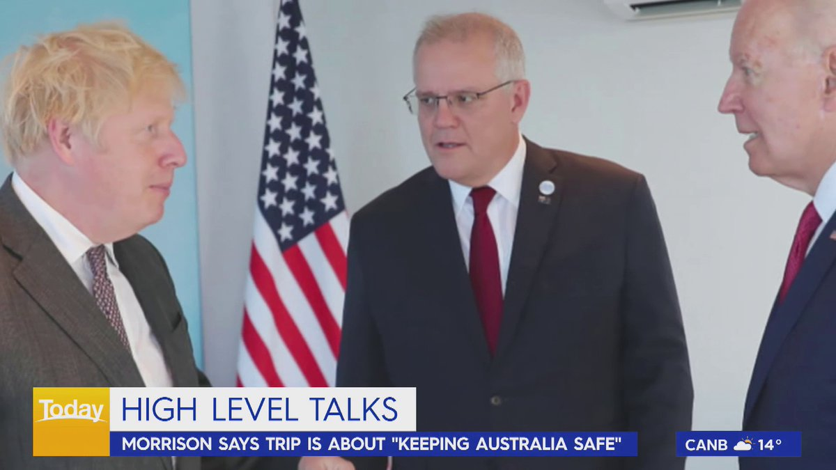 Prime Minister Scott Morrison is just hours away from touching down in New York City, where he'll meet with US President Joe Biden. #9Today