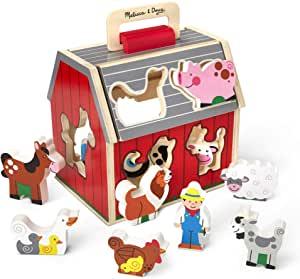 Melissa & Doug Wooden Take-Along Sorting Barn Toy $19.99  at