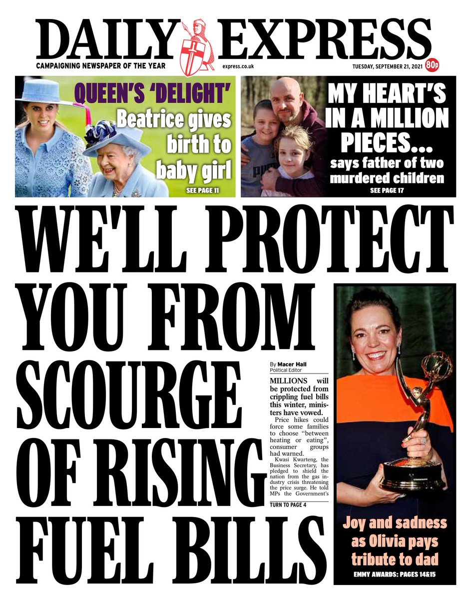 EXPRESS: We'll protect you from scourge of rising fuel bills #TomorrowsPapersToday