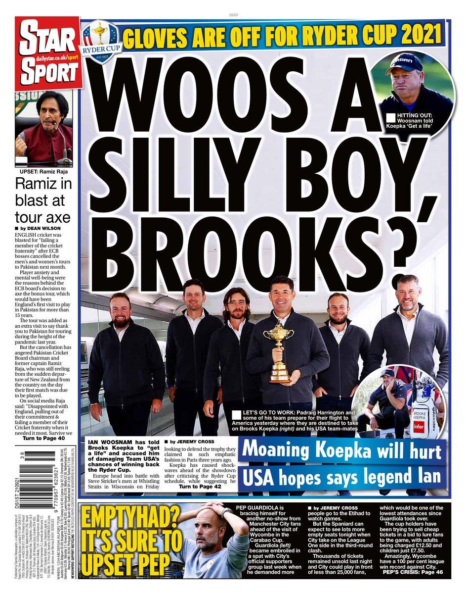 STAR SPORT: Woos a silly boy, Brooks? #TomorrowsPapersToday