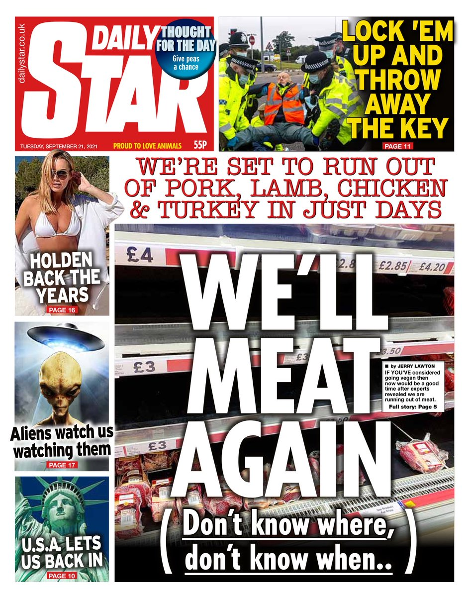 STAR: We'll meat again #TomorrowsPapersToday