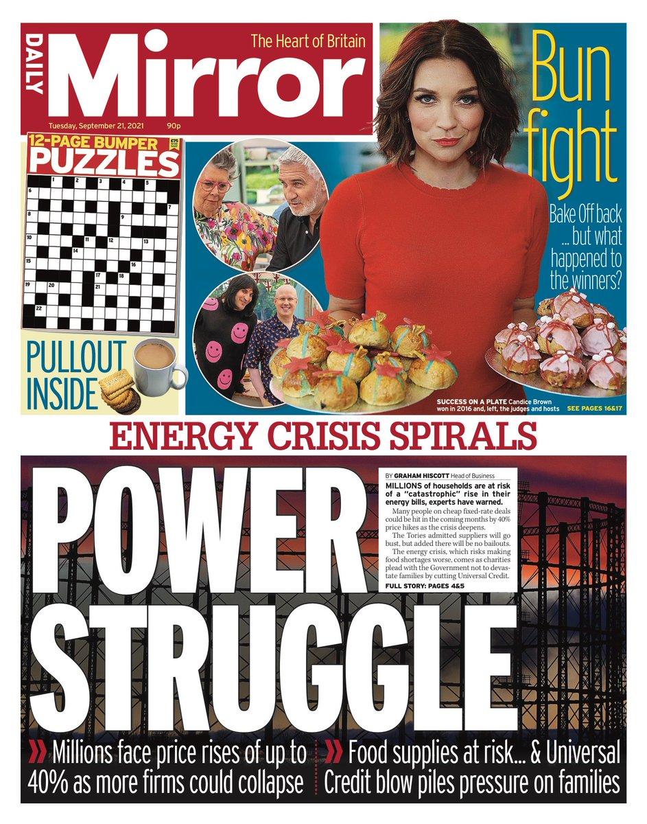 MIRROR: Power struggle #TomorrowsPapersToday