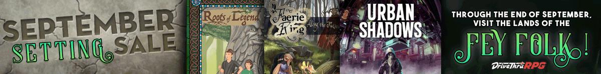 Check out the Fey Folk sale at @DriveThruRPG