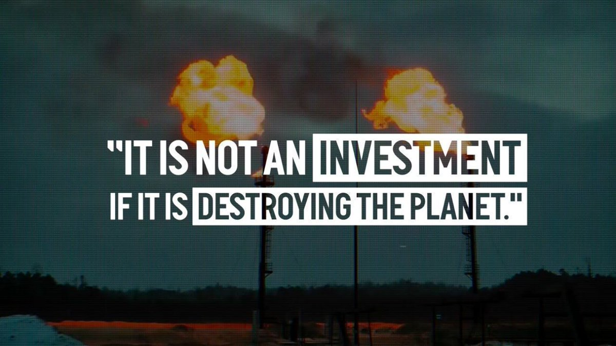 'It's not an investment if its destroying the planet.'  ~Vandana Shiva.  RT if you agree.  #ActOnClimate #climateemergency #climate #energy #GreenNewDeal #BuildBackBetter #cop26
