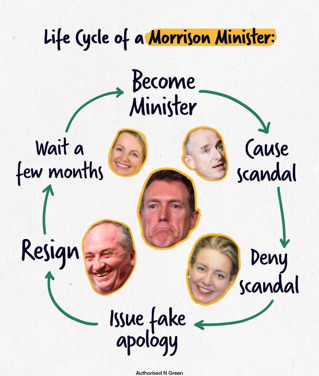 Barnaby Joyce said Porter had a 'bad day at the wicket' and 'should be given a future chance at some senior role'. When is the last time anyone from this Government was actually held to account under Scott Morrison? #auspol