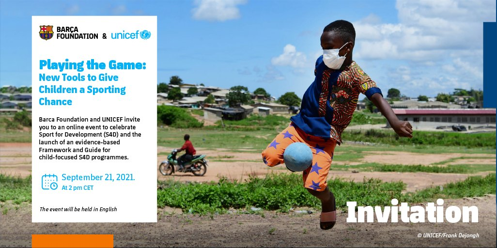 RT @JLin7 I got to speak to the @fundacioFCB and  @UNICEF about the importance of sport for development for children – you can watch the event on Tuesday 21st at 8am EST, 2pm CET on this page: Playing the Game (https://t.co/A4pcPN6wSy) #AllOneforChildren #Sport4Change