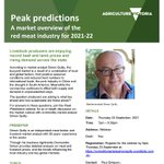 Livestock producers are enjoying record beef and lamb prices and rising demand across Victoria. @VicGovAg hosts market analyst Simon Quilty on Thurs, 23 Sept, 7pm-8.30pm for a free webinar that looks at what lies ahead? Register by 5pm Thurs at https://t.co/HiR1PdFeiO