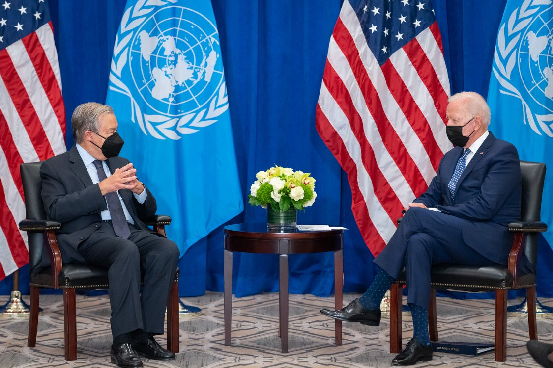 As I said during tonight's meeting with UN Secretary General António Guterres: global challenges require global solutions. We believe in the United Nations and its value. And at this moment, our bond — based on common values and principles — is more important than ever.