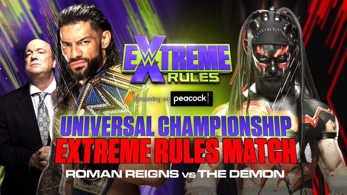 Stipulation Added To WWE Universal Title Match At Extreme Rules