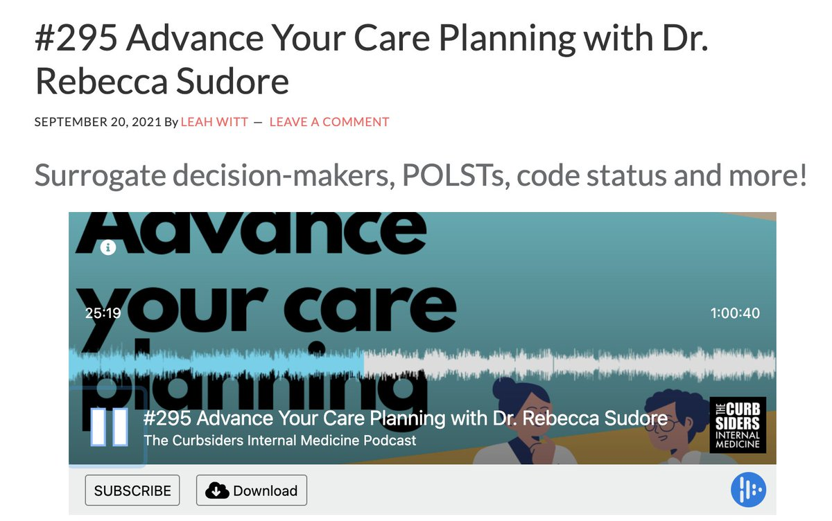 For #TechTuesday we recommend @thecurbsiders episode 'Advance your care planning', from @prepareforcare! thecurbsiders.com/podcast/296