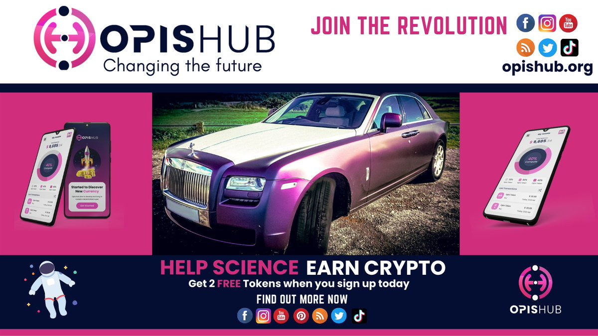 Driving value in #Cryptocurrency 🤳 Aiding leading research in #ScienceFind out more at opishub.org 🎁  #futurist #futuretech #cloudcomputing #science #scientific  #Join #SignUp #charity #cryptocurrencynews #blockchain #technology #Puzzle #ClimateAction #RollsRoyce
