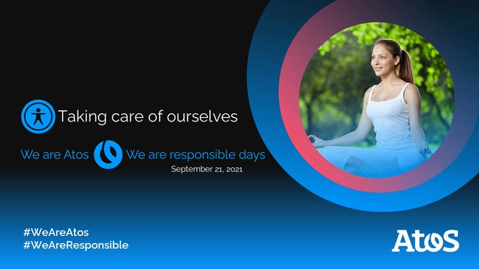 #WeAreAtos #WeAreResponsible days start now! 🌍 Today Atos employees will learn new tips...
