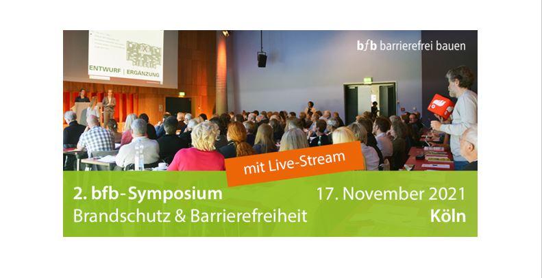 """2. bfb-Symposium """"Brandschutz & Barrierefreiheit"""" am 17. November 2021 – Wir bringen Fachleute aus Brandschutz und Barrierefreiheit an einen Tisch. https://t.co/1cPmpjcW33 https://t.co/N3wok3EaG7"""